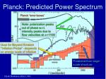 planck predicted power spectrum