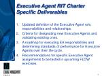 executive agent rit charter specific deliverables