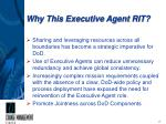 why this executive agent rit
