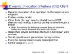 dynamic invocation interface dii client