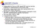 jax rpc clients