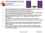 what happen during an rpc