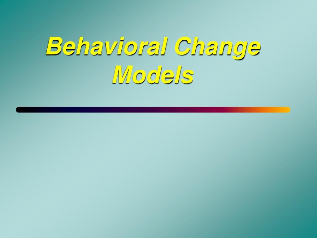 behavioral change models l.