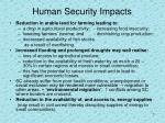 human security impacts