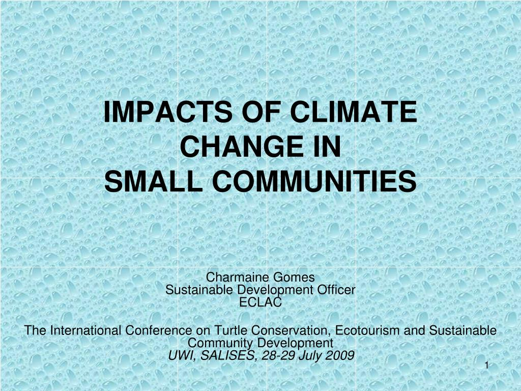 impacts of climate change in small communities l.