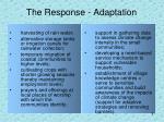 the response adaptation