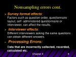 nonsampling errors cont