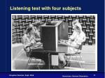 listening test with four subjects