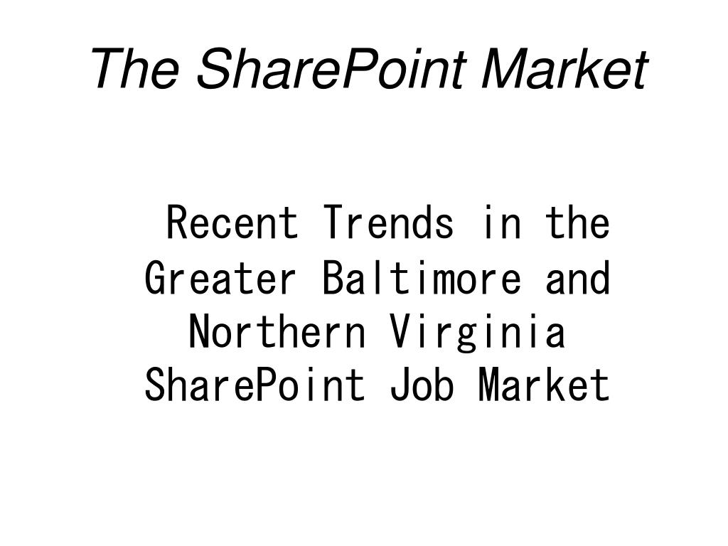 the sharepoint market l.