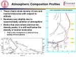 atmospheric composition profiles