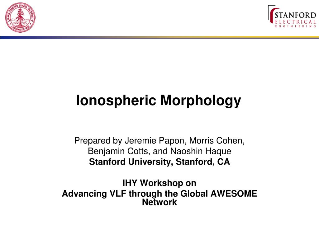 ionospheric morphology l.