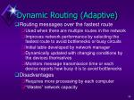 dynamic routing adaptive
