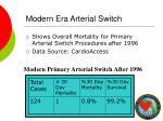 modern era arterial switch