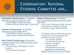 coordination national steering committee and