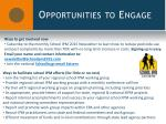 opportunities to engage