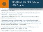 pending us epa school ipm grants