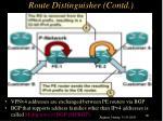 route distinguisher contd