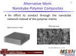 alternative work nanotube polymer composites