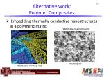 alternative work polymer composites
