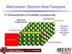 mechanism electron heat transport
