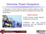 overview power dissipation