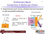 preliminary work conduction in molecular chains