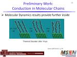 preliminary work conduction in molecular chains41