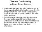 thermal conductivity by diego gomez gualdron