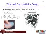 thermal conductivity design