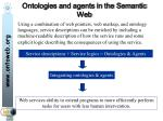 ontologies and agents in the semantic web
