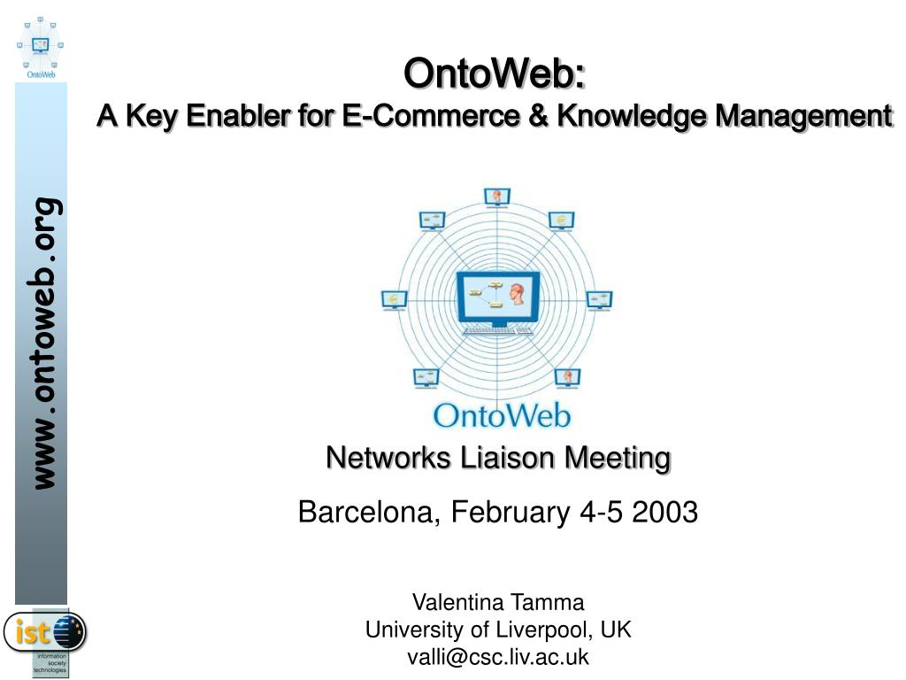 ontoweb a key enabler for e commerce knowledge management l.