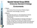 special interest group sig3 enterprise standard ontology environments