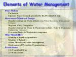elements of water management