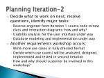 planning iteration 2