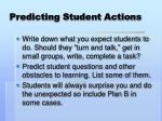 predicting student actions
