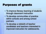 purposes of grants