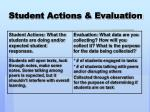 student actions evaluation