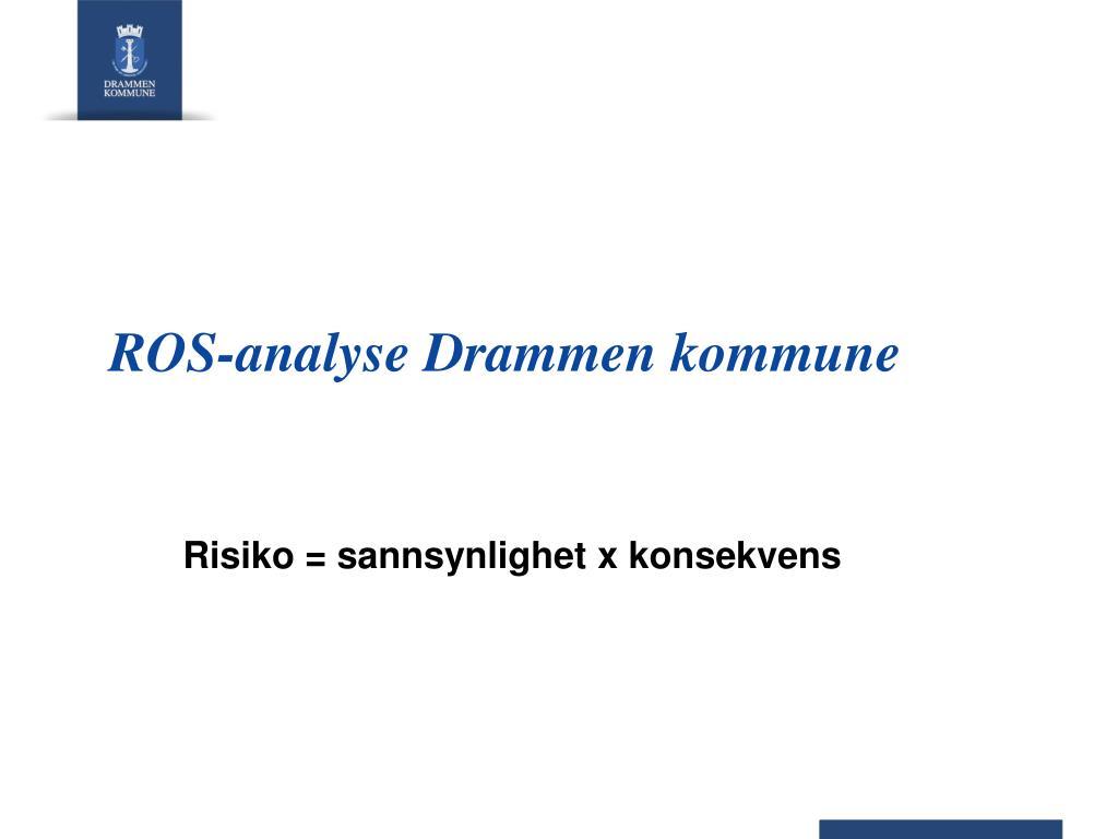 ros analyse drammen kommune l.