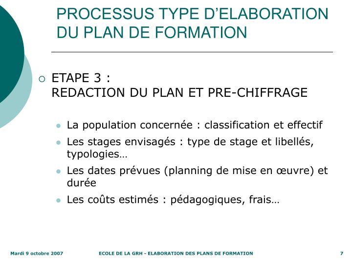 ppt - elaboration du plan de formation powerpoint presentation