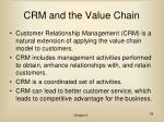 crm and the value chain