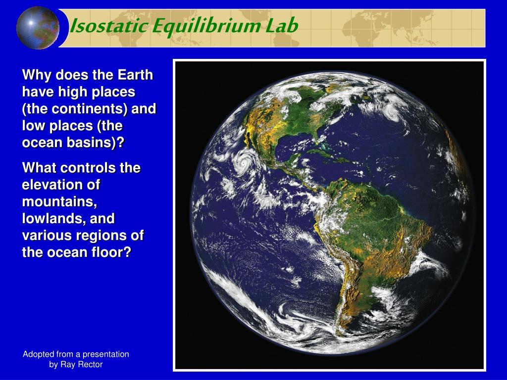 isostatic equilibrium lab l.