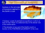 the concept of isostasy