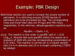 example pbr design
