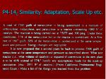 p4 14 c similarity adaptation scale up etc