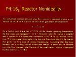p4 16 b reactor nonideality