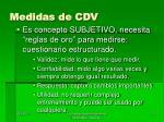 medidas de cdv