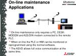 on line maintenance applications