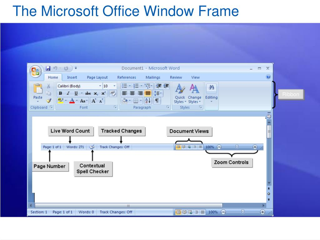 The Microsoft Office Window Frame