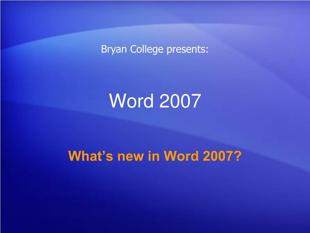 word 2007 l.