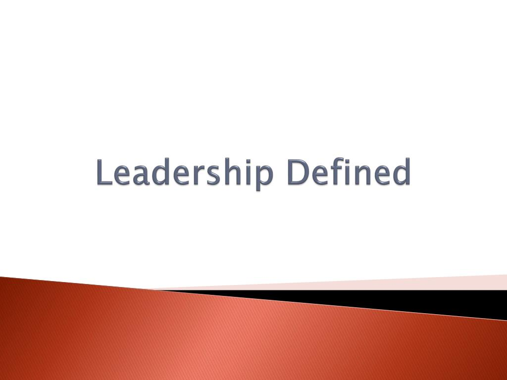 leadership defined l.